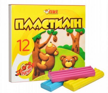 Пластилін Tiki, 12 кол.