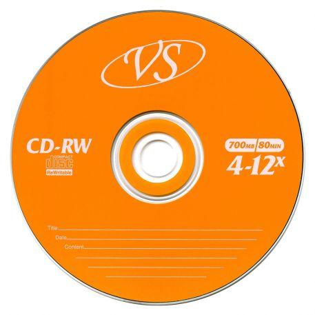 Диск CD-RW VS 700 Mb, 12х