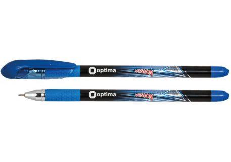 Ручка масляна 0,7мм Optima Vision, синя