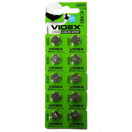 Батарейка Videx AG10 Alkaline