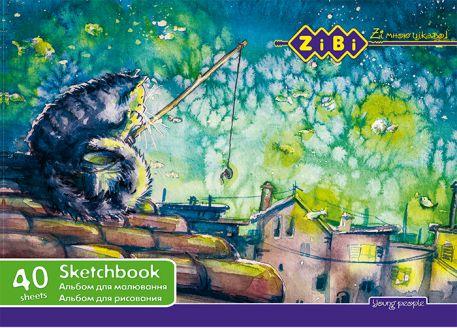 Альбом для малювання на спіралі, 40 арк.