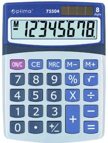 Калькулятор Optima 75504, 8 розрядів