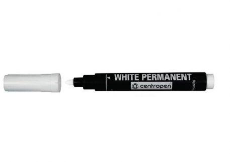 Маркер перманентний Сentropen, 2,5мм, білий