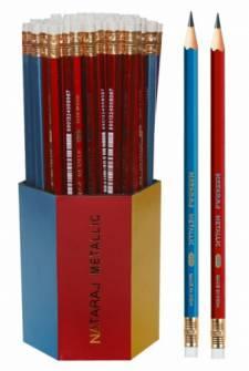 Олівець чорнографітний NATARAJ METALLIC НВ