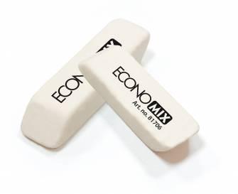 Гумка Economix біла зрізана