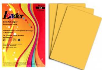 Папір кольоровий Leader 80г/м2 А4, 100арк.