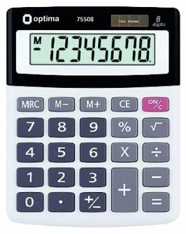 Калькулятор Optima 75508, 8 розрядів