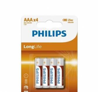 Батарейка Philips R03 тип ААА