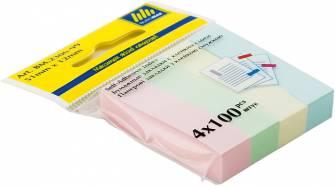 Паперові закладки з клейкою смужкою ВМ.2306, 400 шт.