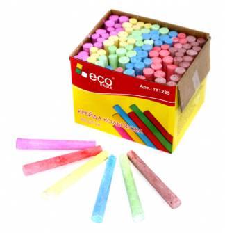 Крейда кольорова Eco, 100 шт.