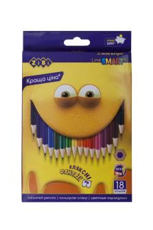 Олівці кольорові Zibi 18 кол.