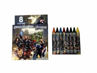 Олівці воскові Jumbo Crayons 8 шт.