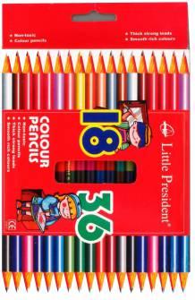 Олівці кольорові Little President 18 шт. двосторонні