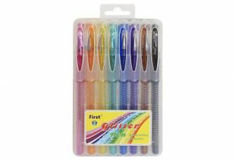 Набір гелевих ручок 8 шт. з глітером