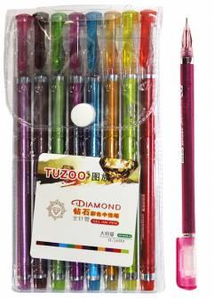 Набір гелевих ручок Tuzoo 8 кол.
