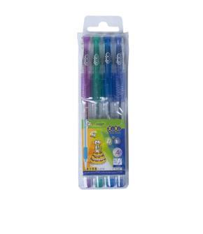 Набір гелевих ручок Zibi 4 шт. з глітером