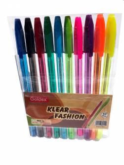 Набір масляних ручок Goldex 10 кол.