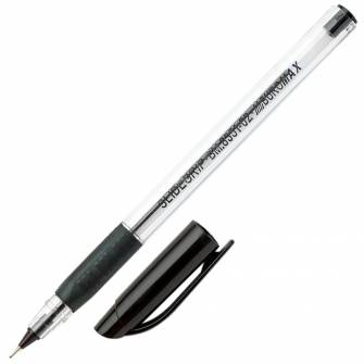 Ручка масляна 0,5 мм Buromax BM.8351, чорна