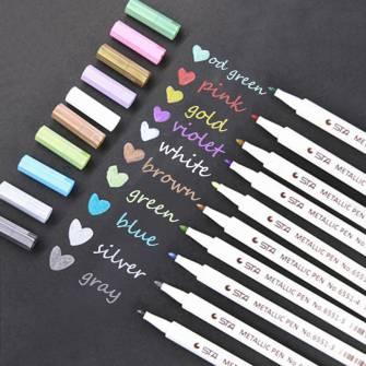 Маркер для чорних дошок STA Metallic Pen