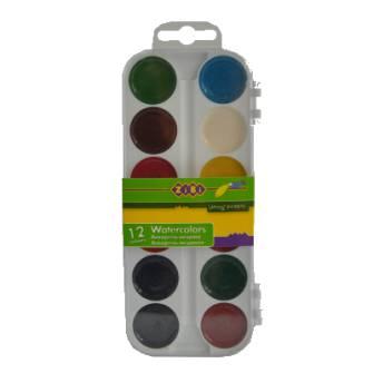 Фарби акварельні Zibi ZB.6521, 12 кол