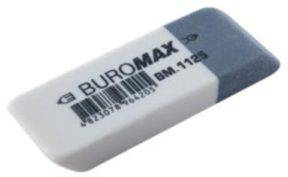 Гумка Buromax BM.1125 біло-сіра