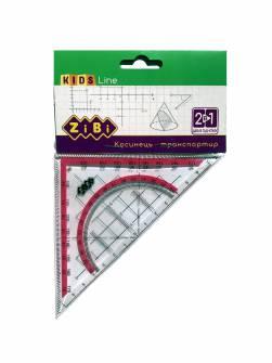 Лінійка - трикутник 90°/45°/45° Zibi ZB.5623