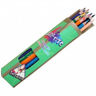 Олівці кольорові трикутні Marco 12 шт.