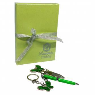 Набір подарунковий: ручка+брелок+закладка
