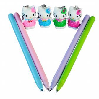 Ручка гелева + брелок Hello Kitty