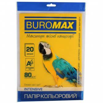 Папір кольоровий Buromax A4, 80 г/м , 20 арк.