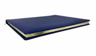 Дневник А4 недатированный с позолоченным торцом