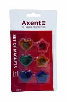 Набір магнітів Axent, 6 шт.