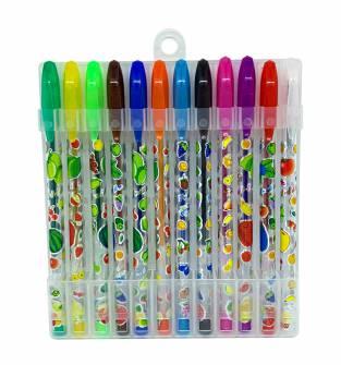 Набір гелевих ручок з блискітками 12 кол.