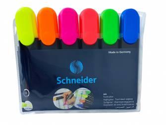 Набір маркерів для виділення тексту Schneider 6 шт