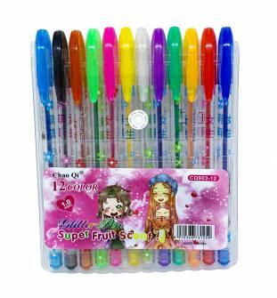 Набір гелевих ручок з блискітками12 кол.