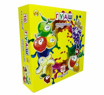 Гуаш подарункова Тетрада 16 кольорів
