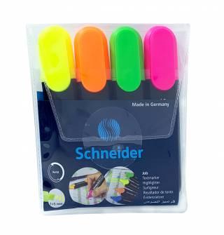 Набір маркерів для виділення тексту Schneider 4 шт